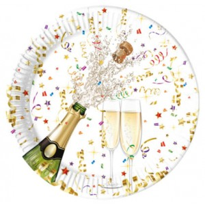 SPRKLING CELEBRATION PAPER PLATES LARGE 23CM 8CT