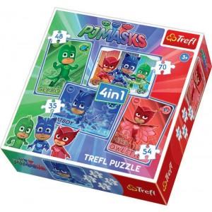 TREFL-4 IN 1 PUZZLE (35+48+54+70) PJ MASKS CATBOY