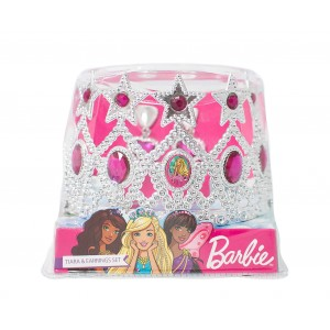 BARBIE TIARA WITH EARRING IN PVC BOX 1CT