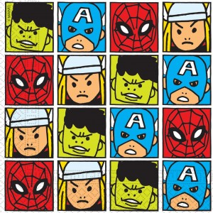 AVENGERS TEAM POWER TWO PLY PAPER NAPKINS 20CT