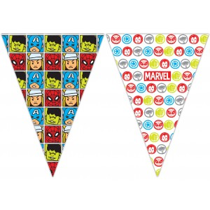 AVENGERS TEAM POWER TRIANGLE FLAG BANNER 9 FGS 1CT