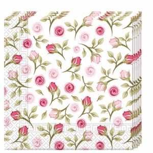 NAPKINS 3 PLY EVRYDAY DESIGN ROMNTIC ROSE 20CT