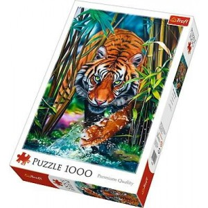 TREFL-1000 PC PUZZLE GRASPING TIGER
