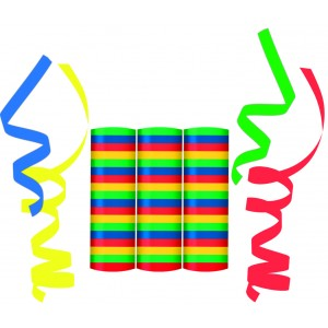 STREAMER(4COLORS MIXED BLUE YELLOW GREEN RED)3CTP