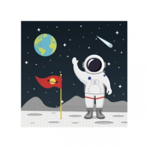 ASTRONAUT TWO-PLY PAPER NAPKINS 33X33CM 20CT