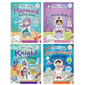 ACTIVITY MAKE AND PLAY MIX BOOKS (4 ASSORTED)