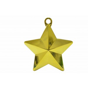 BALLOON WEIGHTS STAR 28 GRAMS GOLD 1CTP