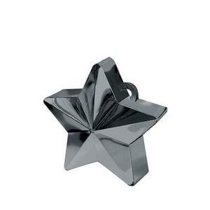 BALLOON WEIGHTS STAR 28 GRAMS BLACK 1CTP
