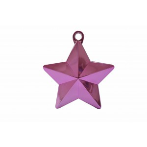 BALLOON WEIGHTS STAR 28 GRAMS PINK 1CTP