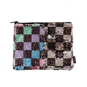 S.LAB BEAUTY MAGIC CHECKERBOARD SEQUIN POUCH