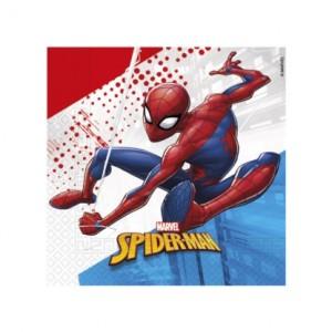 SPIDERMAN SUPER HERO IND COMPOSTA 2PLY NAPKNS 20CT