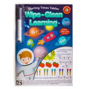 WIPE-CLEAN LEARNING STARTING TIMES TABLES
