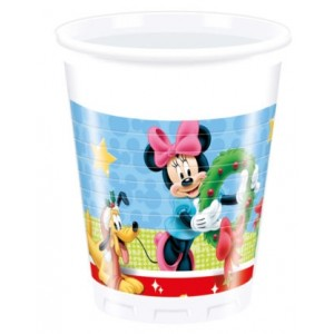 MICKEY CHRISTMAS TIME PLASTIC CUPS 200 ML 8CT