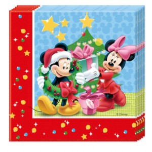 MICKEY CHRISTMA TYM TWO PLY PPR NPKIN 33X33CM 20CT