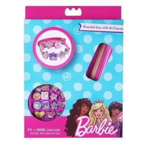 BARBIE-BRACELET BOX WITH 18 CHARMS