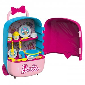 BARBIE MEGA CASE TROLLETY KITCHEN SET
