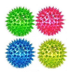 GLOW-BOUNCING/FLASHING SPIKY BALL