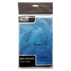 PLASTIC TABLE COVER-137CMx213CM(70G) ROYAL BLU 1CT