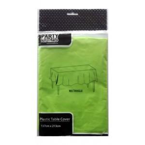 PLASTIC TABLE COVER-137CMx213CM(70G) GREEN 1CT