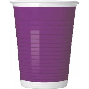 PURPLE PAPER CUPS 200ML 8CT