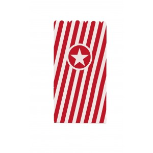 POPCORN BAGS PAPER RED 6CTP