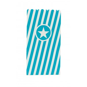 POPCORN BAGS PAPER TURQUOISE 6CTP