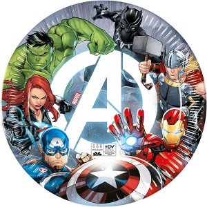 ECO AVENGERS FIGHT COMPOSTABLE PAPER PLATES 8CT