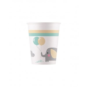 ECO COMP ELEPHANT BABY PAPER CUPS 200ML 8CT