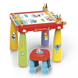 FISHER PRICE COLOURING TABLE W/STOOL