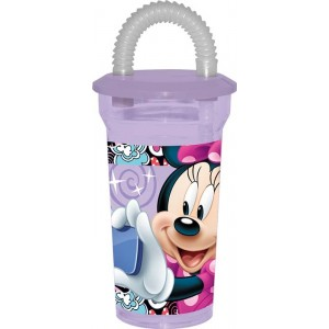 MINNIE STYLE FLEXIBLE STRAW TUMBLER