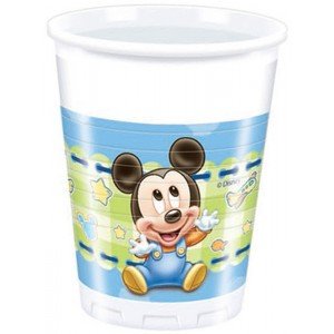 BABY MICKEY PLASTIC CUPS 200ML 8CT