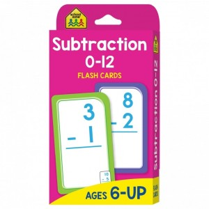 FLASH CARDS-SUBTRACTION 0-12