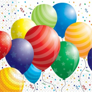 BALLOONS CELEBRATION TWO PLY PAPER NAPKINS 20CT