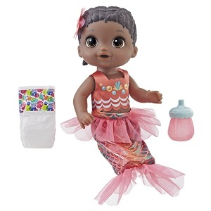 BABY ALIVE-SHIMMER N SPLASH MERMAID BLK HAIR