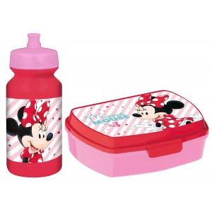 MINNIE FUNNY SBOX AND PUSHUP SPORTS BOTTLE 340ML