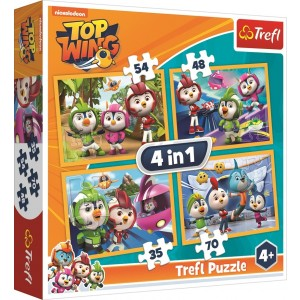 TREFL-4 IN 1 PUZZLE (35+48+54+70) TOP WING