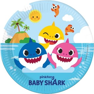 BABY SHARK PAPER PLATES LARGE 23CM 8CT