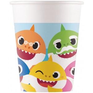 BABY SHARK PAPER CUPS 200ML 8CT
