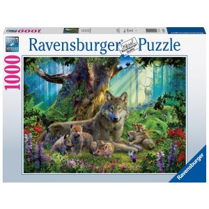 1000PC PUZZLES-WOLVES IN THE FOREST