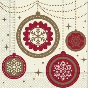 THREE PLY NAPKIN 33X33  CHRISTMAS DREAMS 20CT