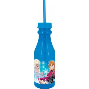 FROZEN SNOW SKY BOTTLE WITH STRAW