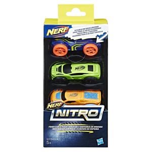 NERF- NITRO FOAM CAR 3PK AST