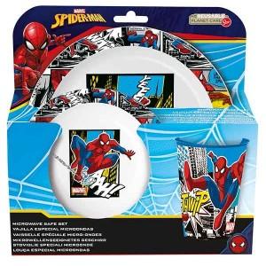 SPIDERMAN STREETS  3 PCS KIDS MICROWAVABLE SET