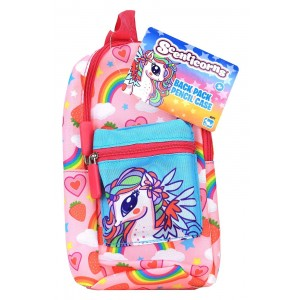SCENTICORNS STATIONERY BACKPACK PENCIL CASE ASST