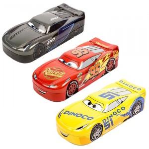 CARS 3-3D PENCIL BOX ASST