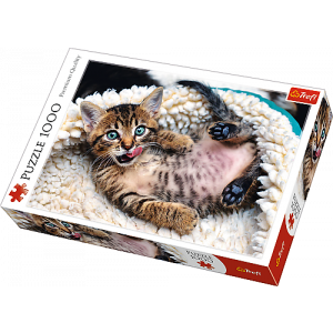 TREFL-1000 PC PUZZLE CHEERFUL KITTEN