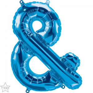 16 IN FOIL AMPERSAND BLUE AIR FILLED 1CTP