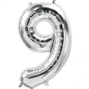 12 INCH AIRFILLED SILVER FOIL BALLOON 9 1CTP