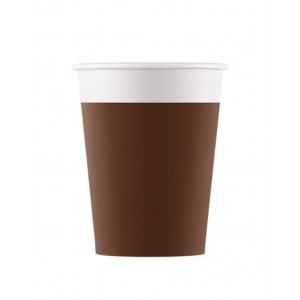 ECO COMP IND BROWN PAPER CUPS 200ML 8CT