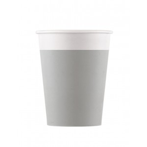 ECO COMP IND GREY PAPER CUPS 200ML 8CT